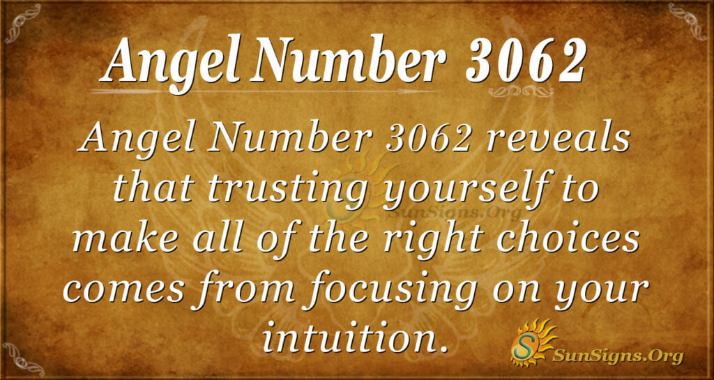 Angel Number 3062