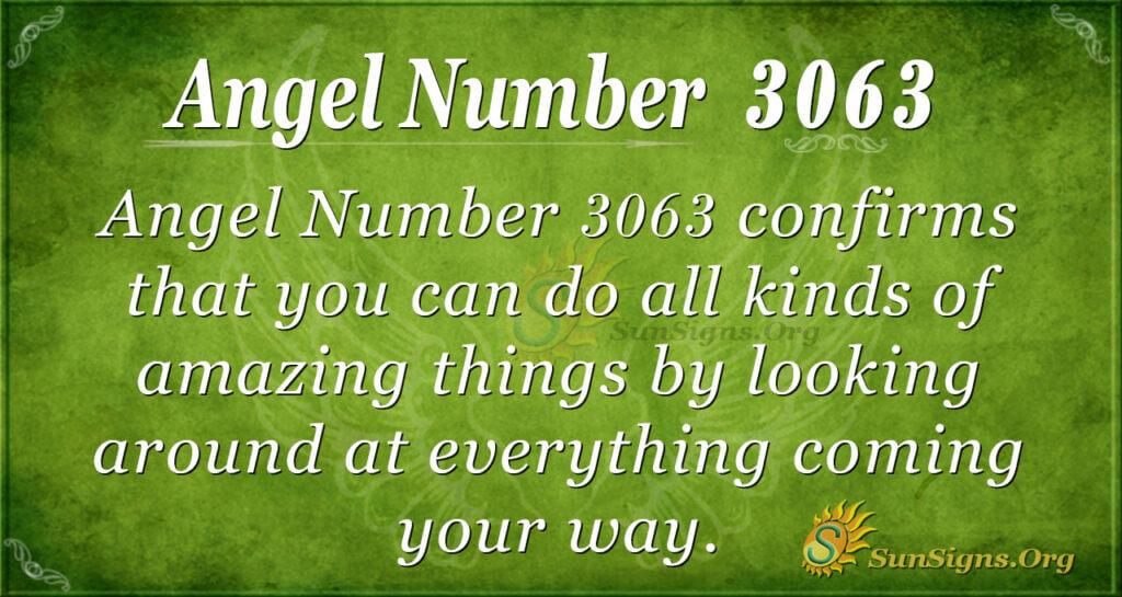 Angel Number 3063