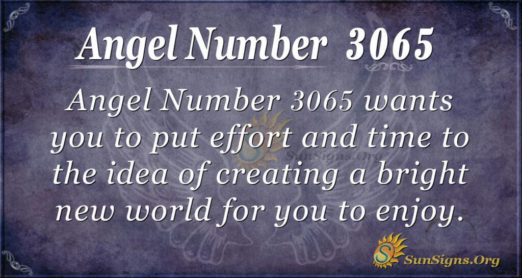 Angel Number 3065