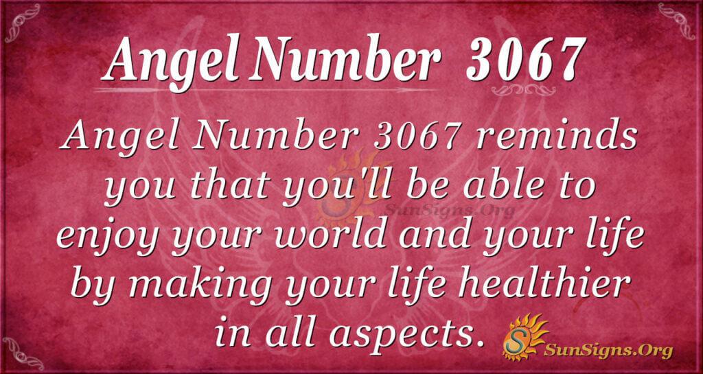 Angel Number 3067