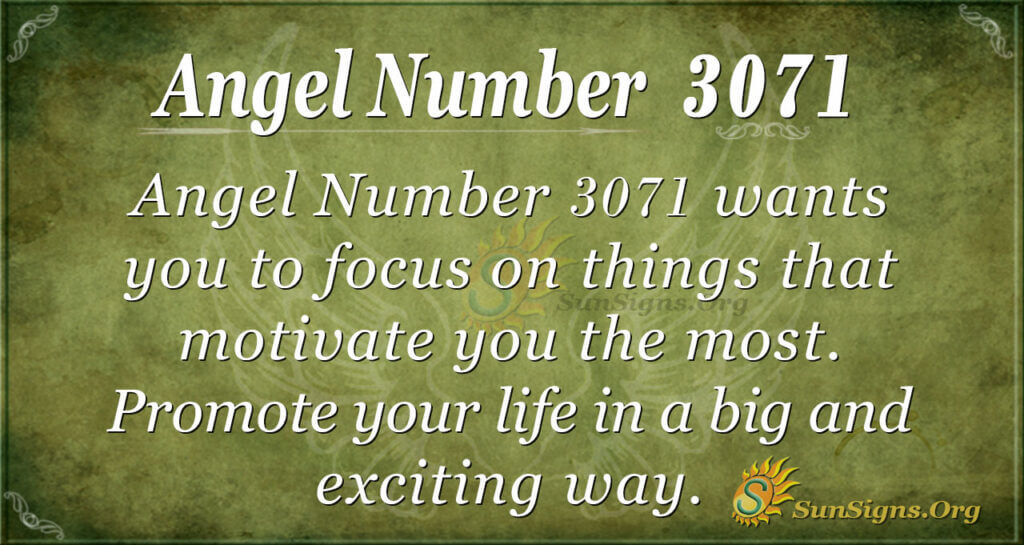 Angel Number 3071