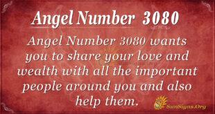 Angel Number 3080