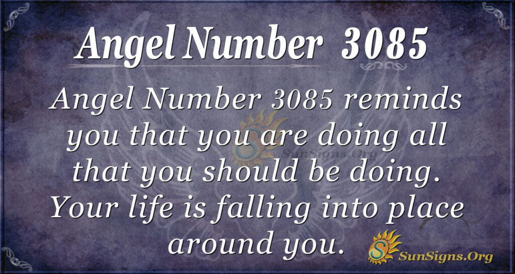 Angel Number 3085