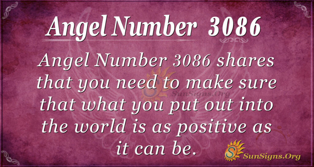 Angel Number 3086