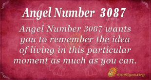 Angel Number 3087