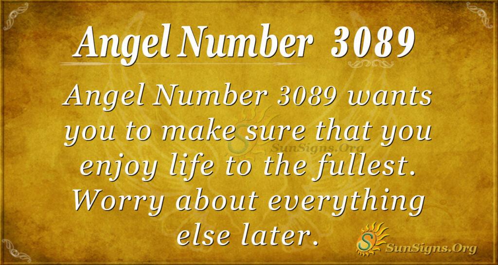 Angel Number 3089