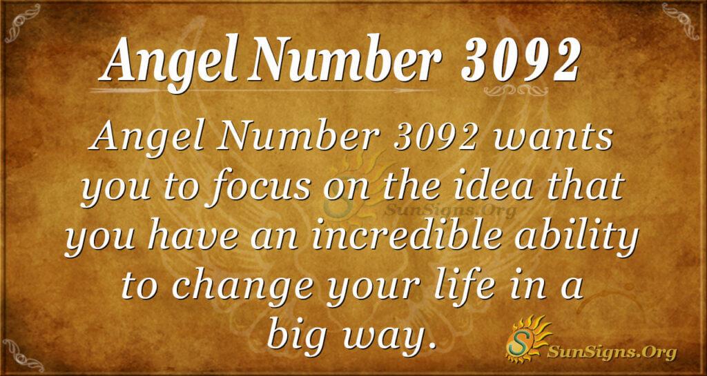 Angel Number 3092