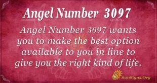 Angel Number 3097