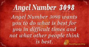 Angel Number 3098