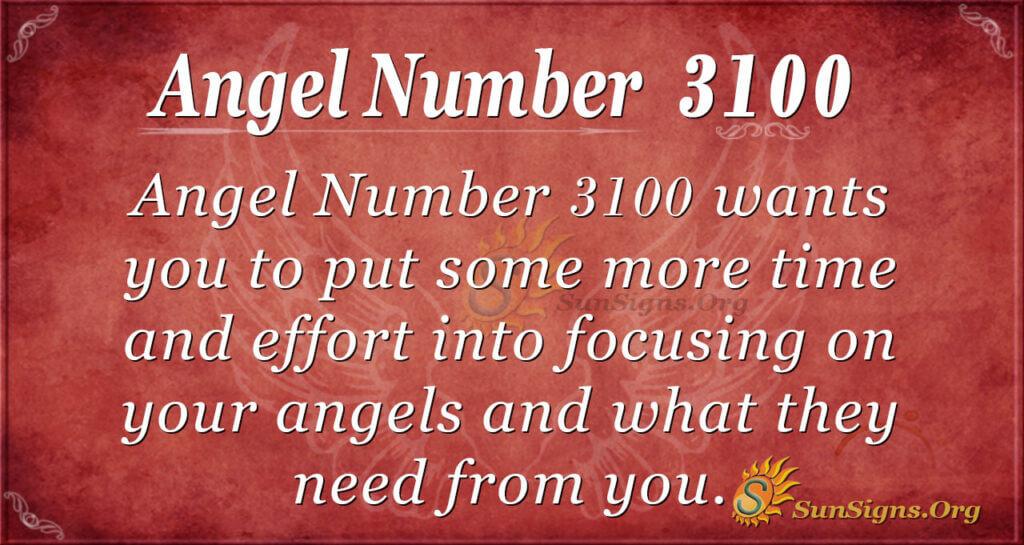 Angel Number 3100