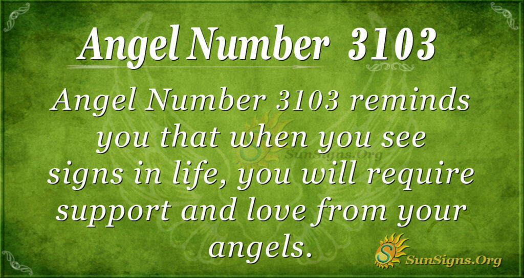 Angel number 3103