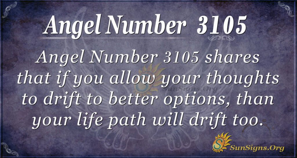 Angel Number 3105