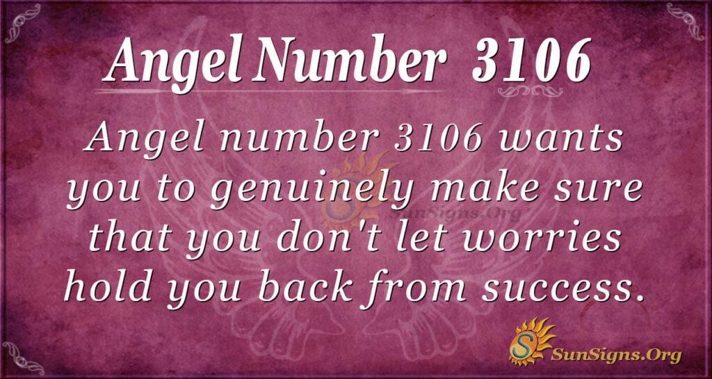 Angel Number 3106