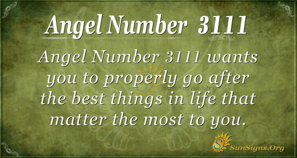 Angel Number 3111