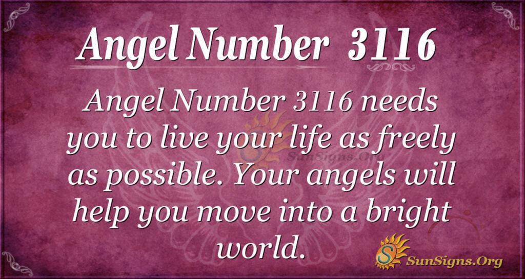 Angel Number 3116