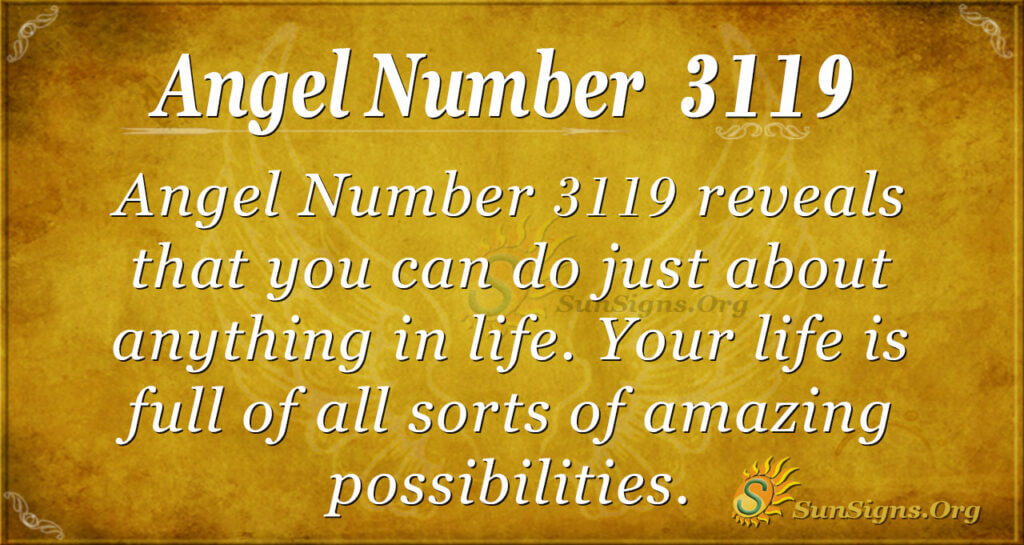 Angel Number 3119