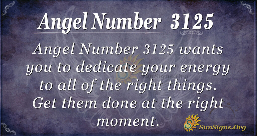 Angel Number 3125