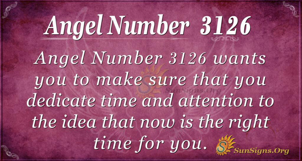 Angel Number 3126