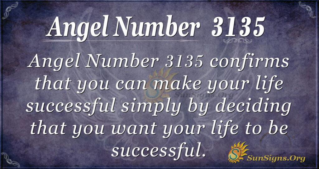 Angel Number 3135