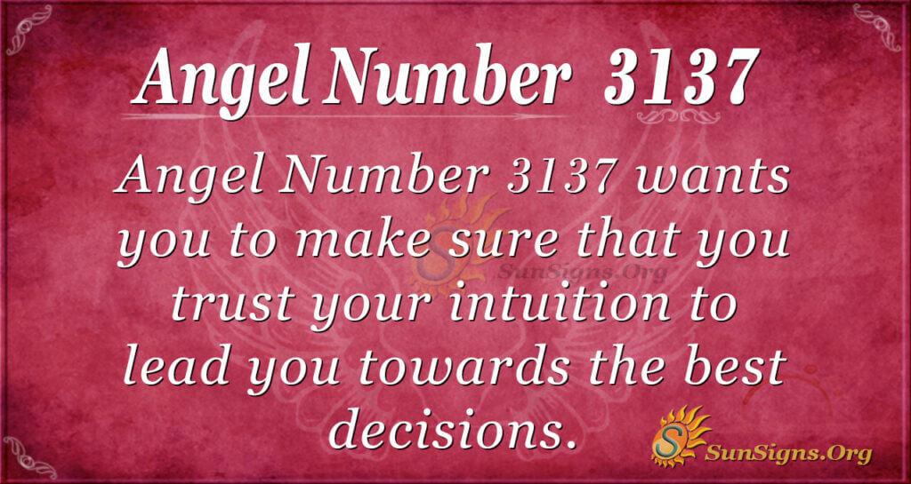 Angel Number 3137