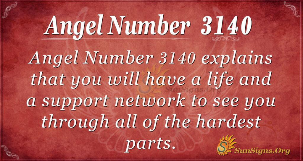 Angel Number 3140
