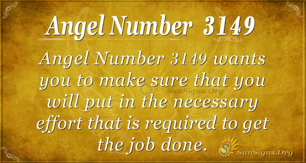 Angel Number 3149
