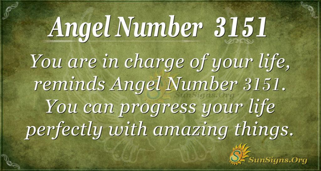 Angel Number 3151