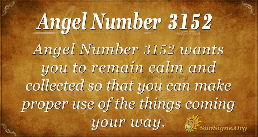 Angel Number 3152
