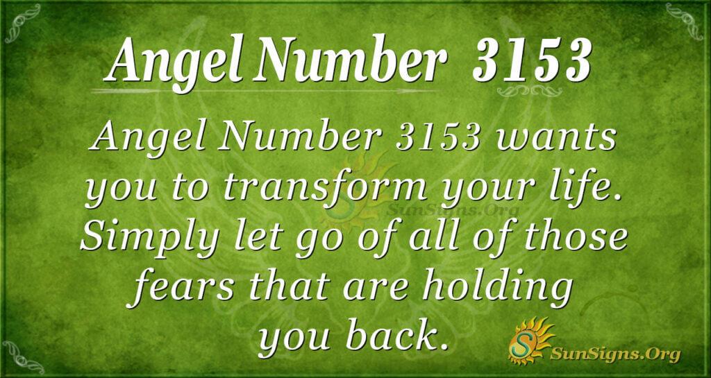 Angel Number 3153