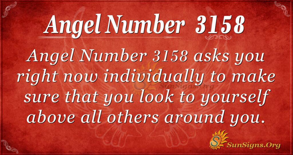 Angel Number 3158