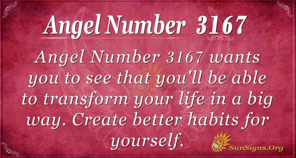 Angel Number 3167