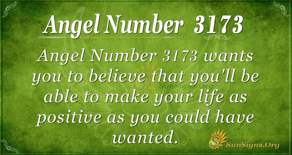 Angel Number 3173