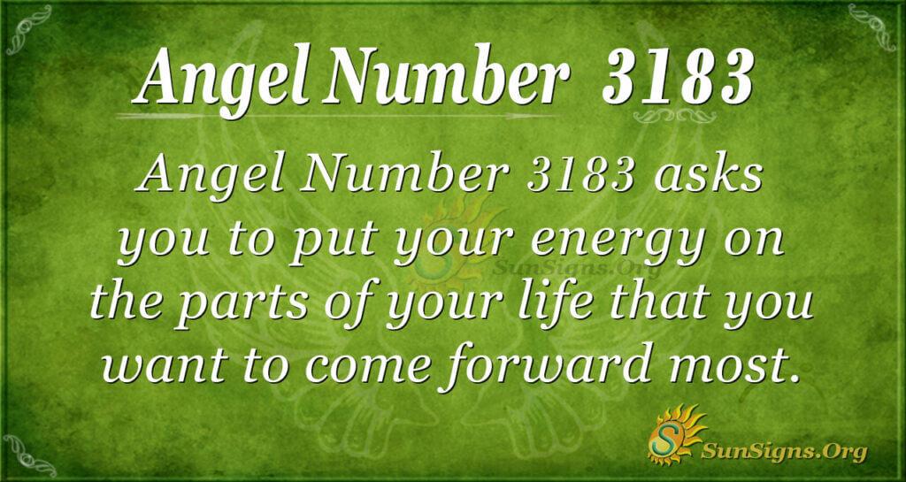 Angel Number 3183