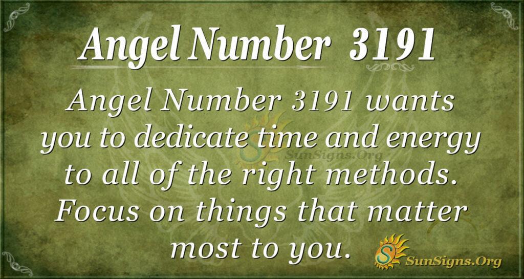 Angel Number 3191