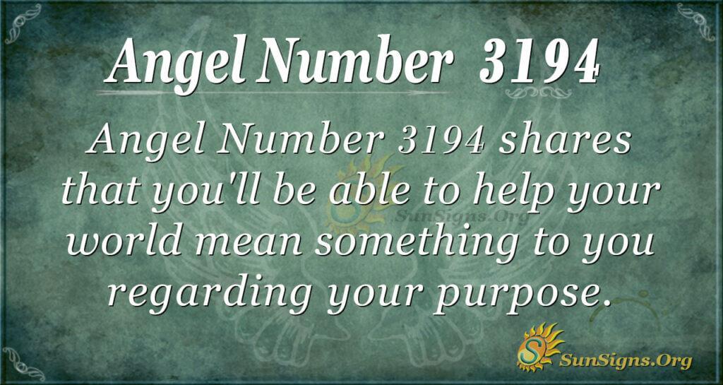 Angel Number 3194
