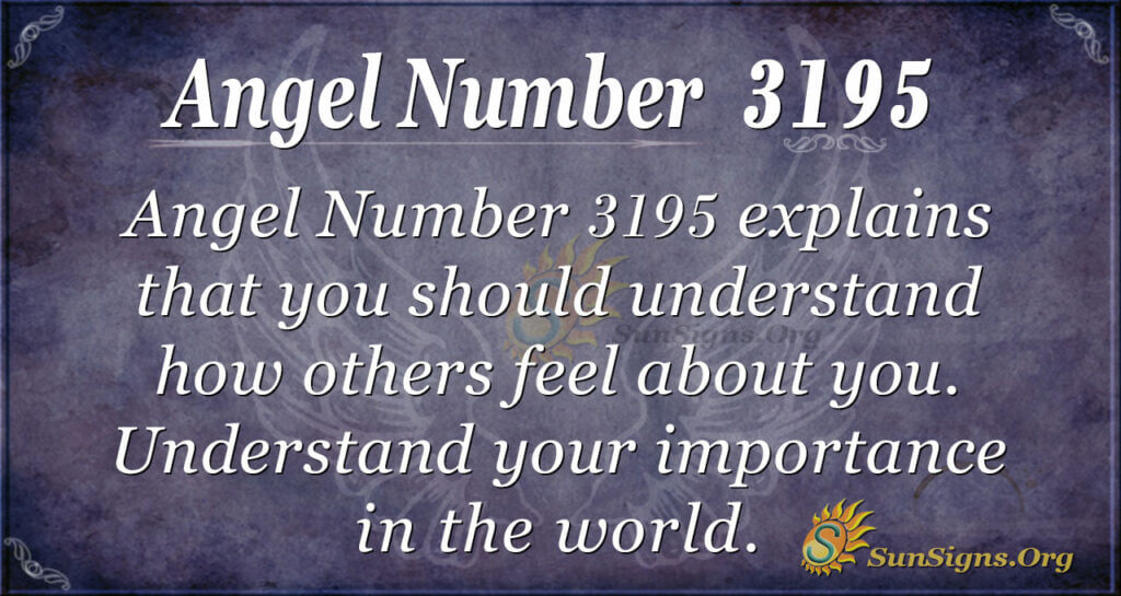 Angel Number 3195