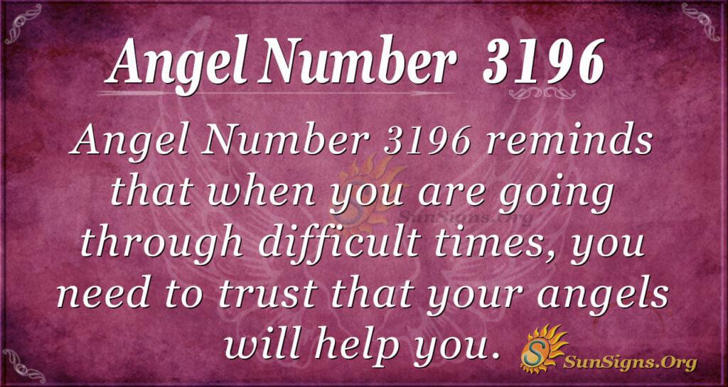 Angel Number 3196