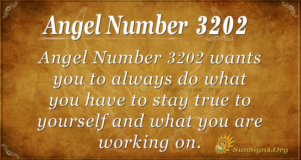 Ange Number 3202