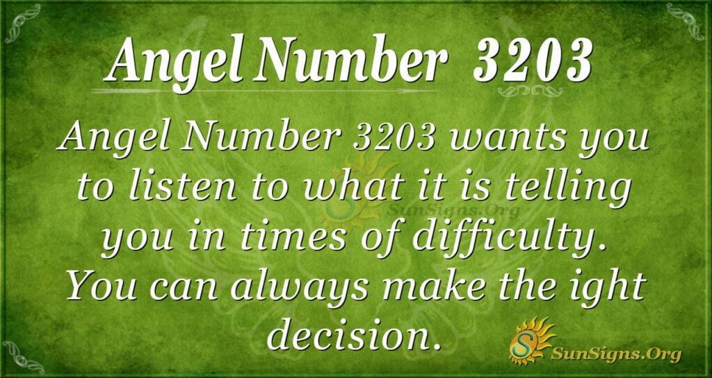 Angel Number 3203