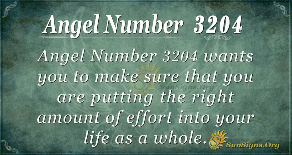Angel Number 3204