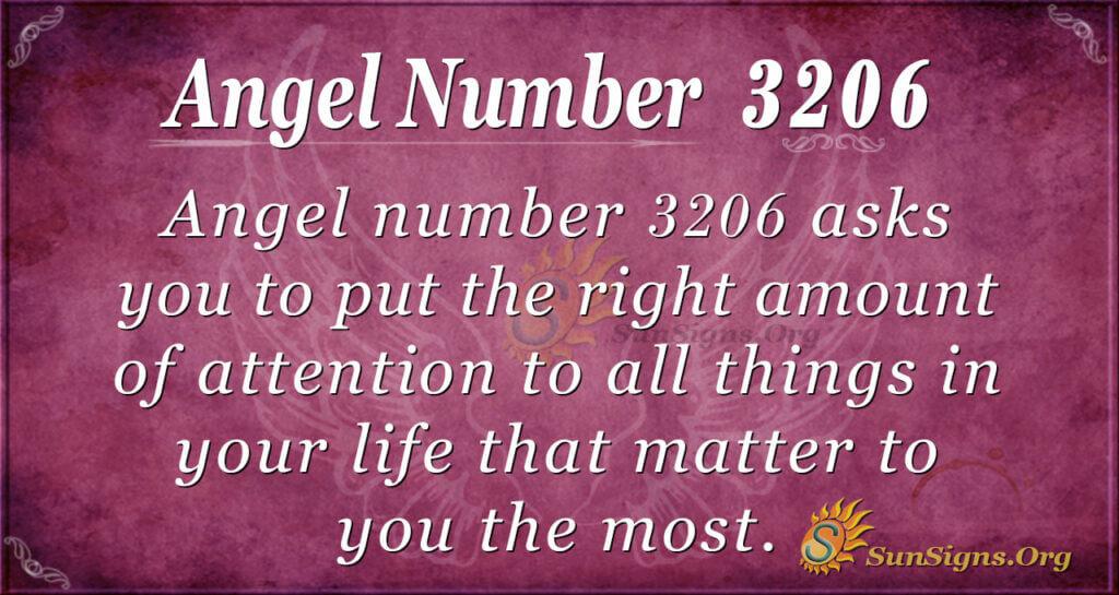Angel Number 3206
