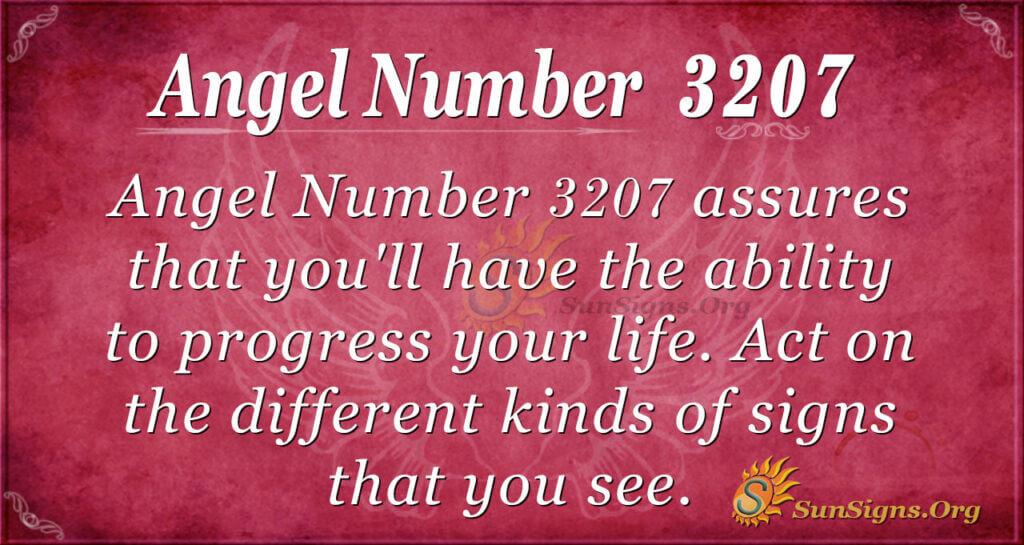 Angel Number 3207