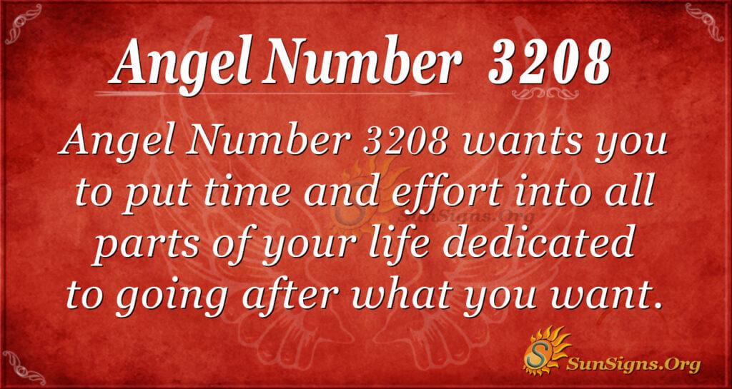 Angel Number 3208