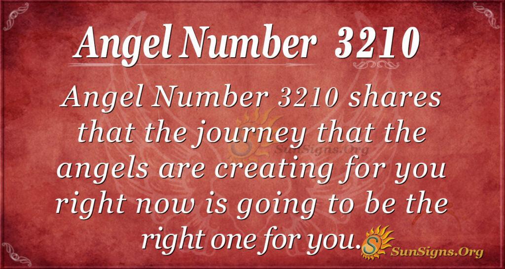 Angel Number 3210