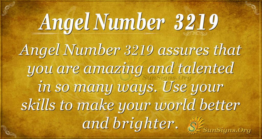 Angel Number 3219