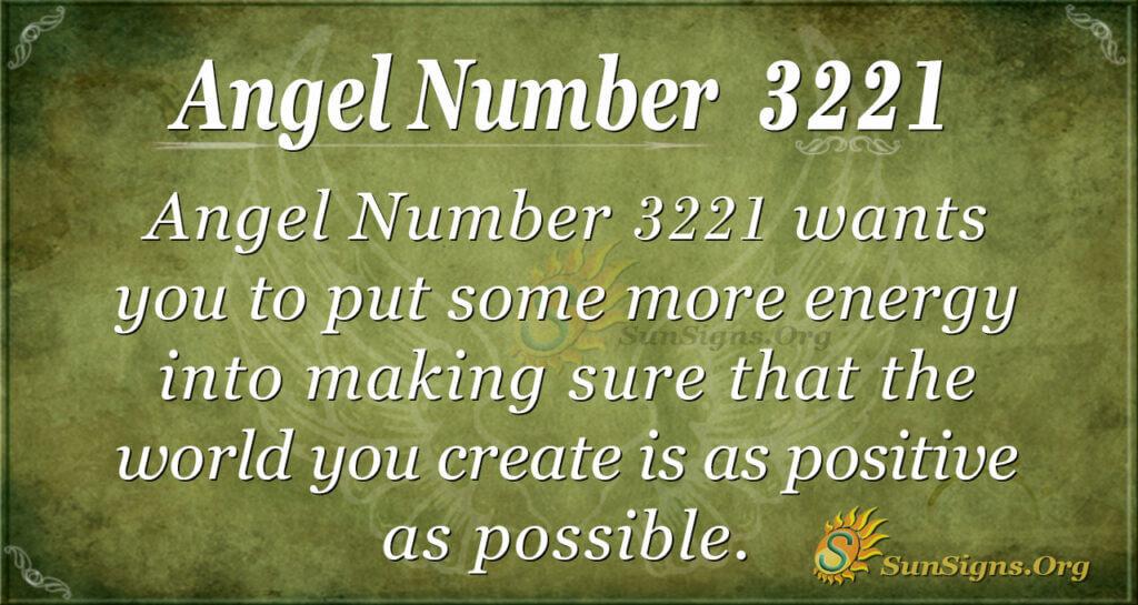 Angel Number 3221