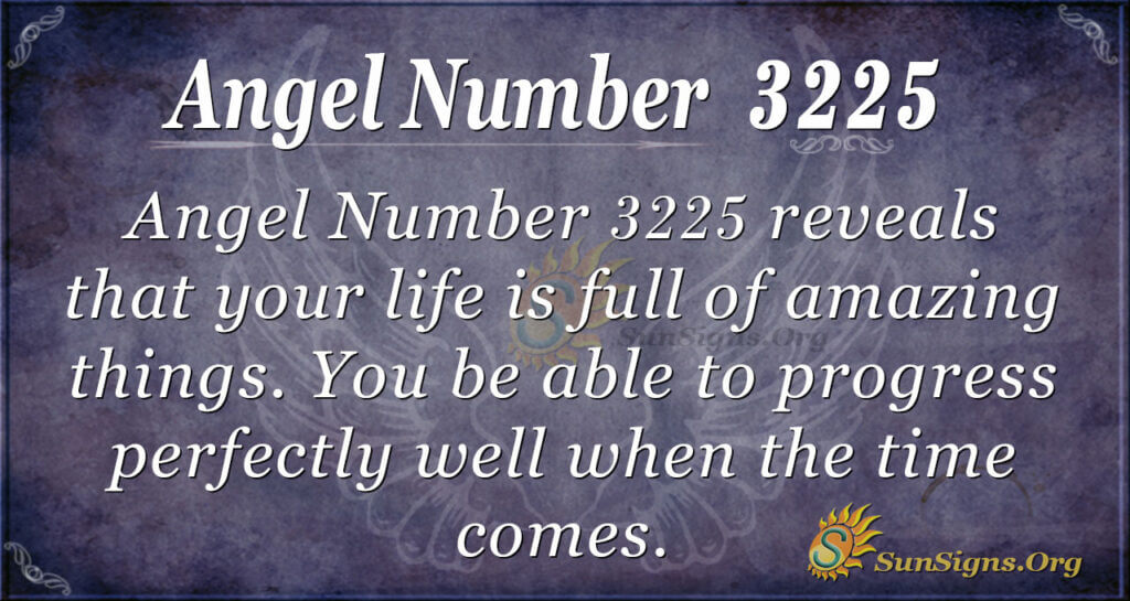 Angel Number 3225