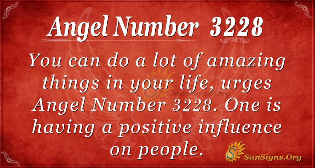 Angel Number 3228