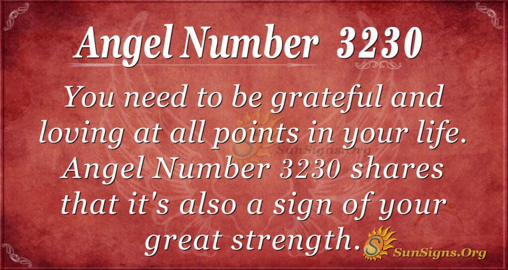 Angel Number 3230