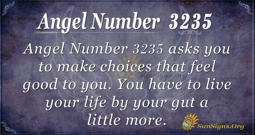 Angel Number 3235